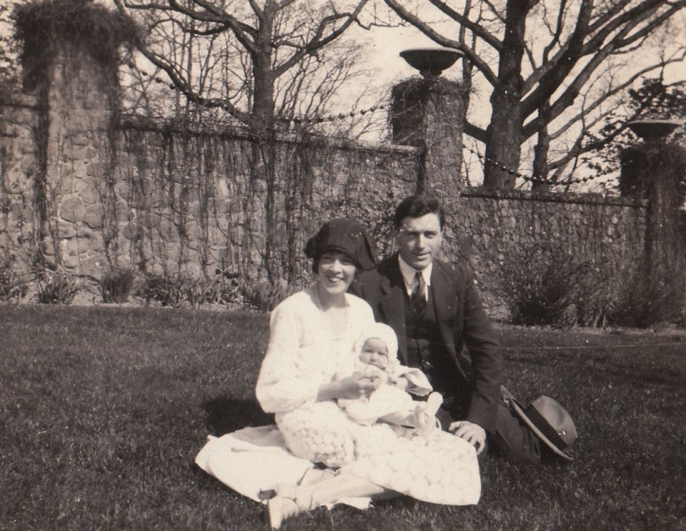 Baby Colleen with her mother and father, Toronto, Ontario, April 29, 1926