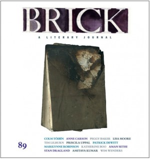 Brick: A LIterary Journal Issue 89, Summer 2012