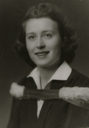 Colleen Thibaudeau 1949 at the University of Toronto